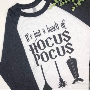 IT'S  JUST A BUNCH OF HOCUS POCUS Raglan T Shirt